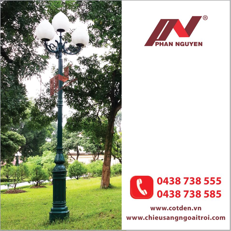 Cột đèn sân vườn - Chiếu sáng hiệu quả