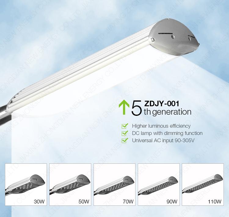 Mẫu đèn đường cao áp PNL 16 gồm nhiều loại công suất khác nhau
